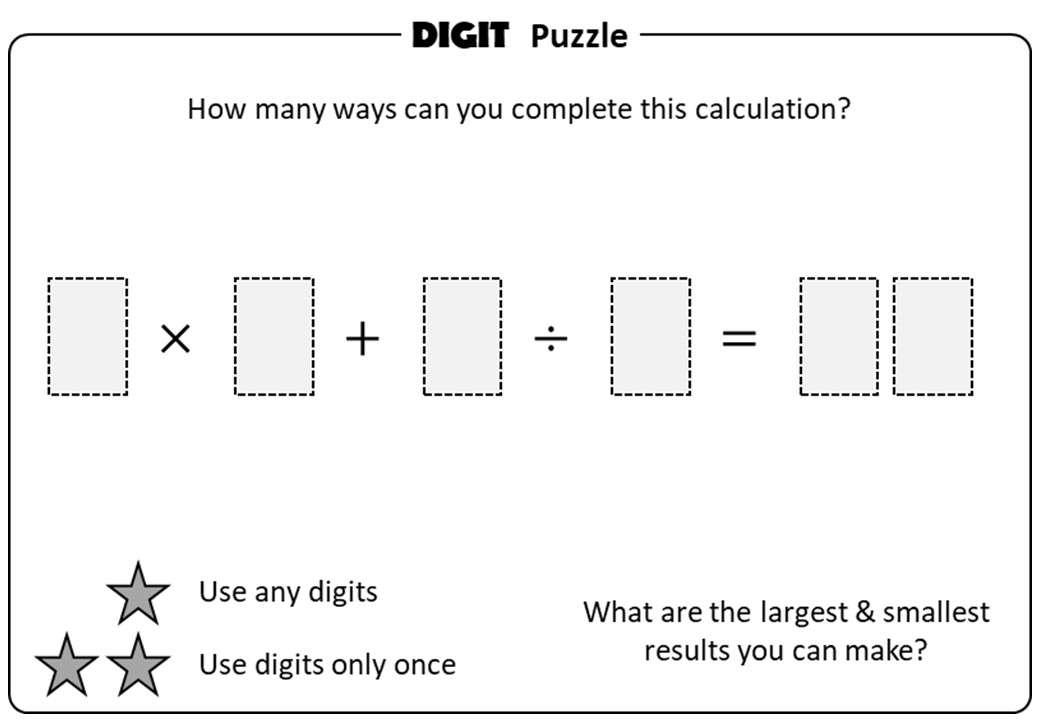 BIDMAS - 4 - Digit Puzzle