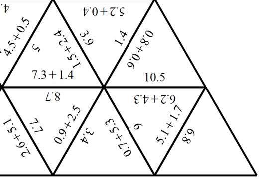 1 Digit Decimals - Adding - Tarsia