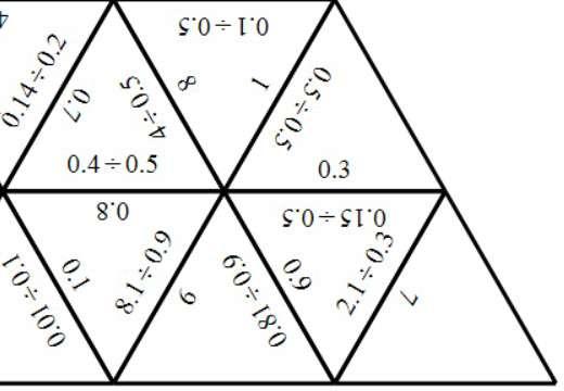 1 Digit Decimals - Dividing - Tarsia