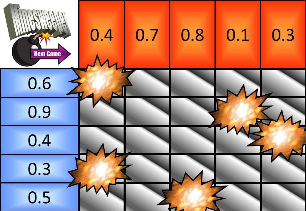 1 Digit Decimals - Multiplying - Minesweeper