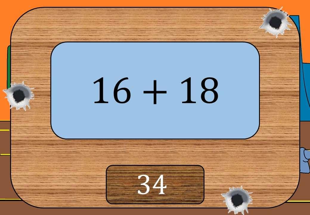 2 Digit Integers - Adding & Subtracting - Shootout