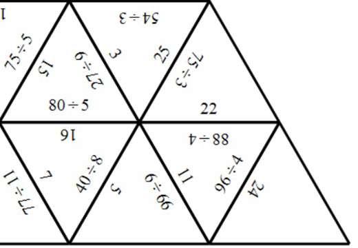2 Digit Integers - Dividing - Tarsia