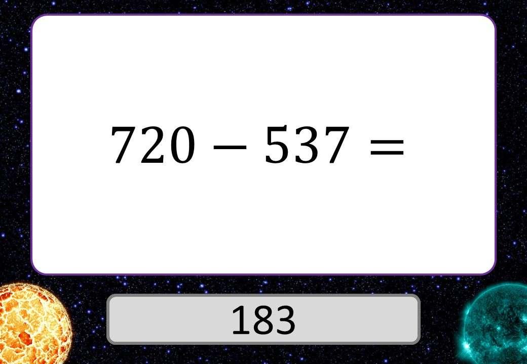 3 Digit Integers - Adding & Subtracting - 3 Stars