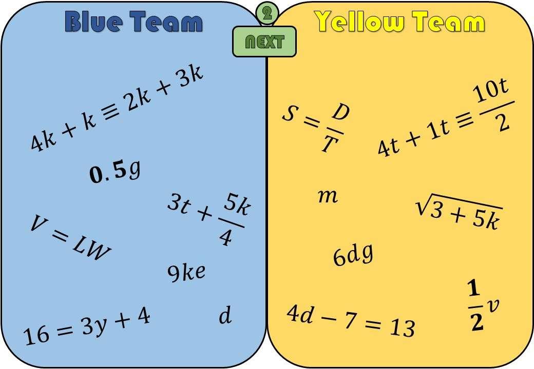 Algebra - Definitions - Splat