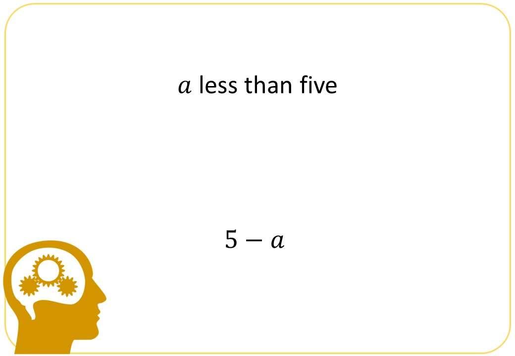 Algebraic Notation - Bingo OA