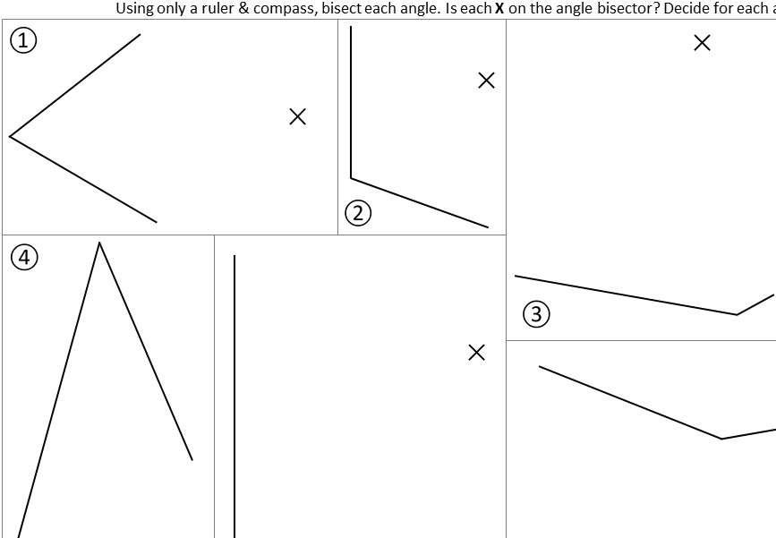 Angle Bisectors - Card Sort