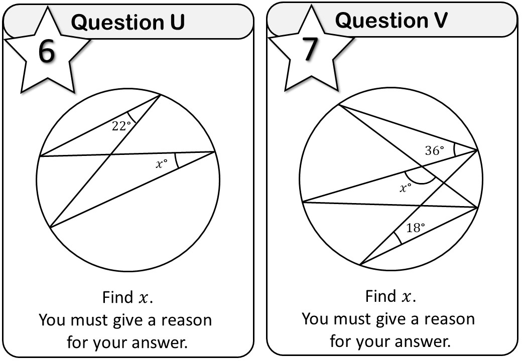 Angles - Mixed - With Circle Theorems - Messenger