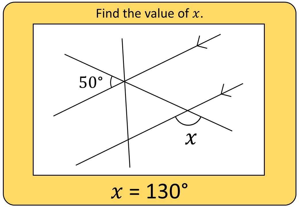 Angles - Parallel Lines - Bingo OA
