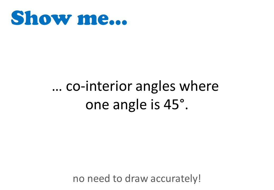 Angles - Parallel Lines - Show Me