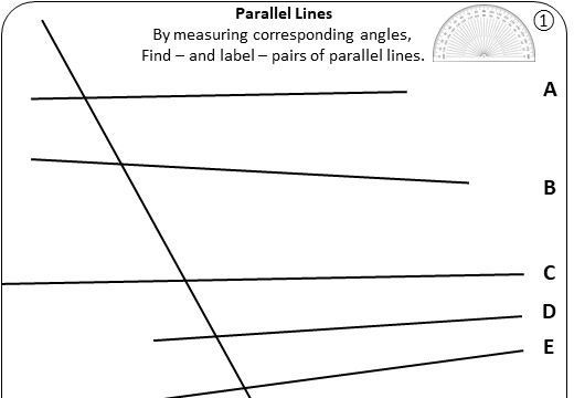 Angles - Parallel Lines - Worksheet A