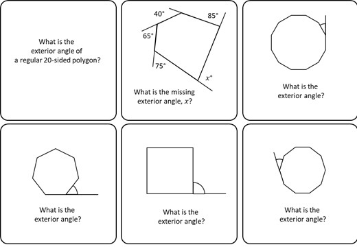 Angles - Regular Polygons - Card Match