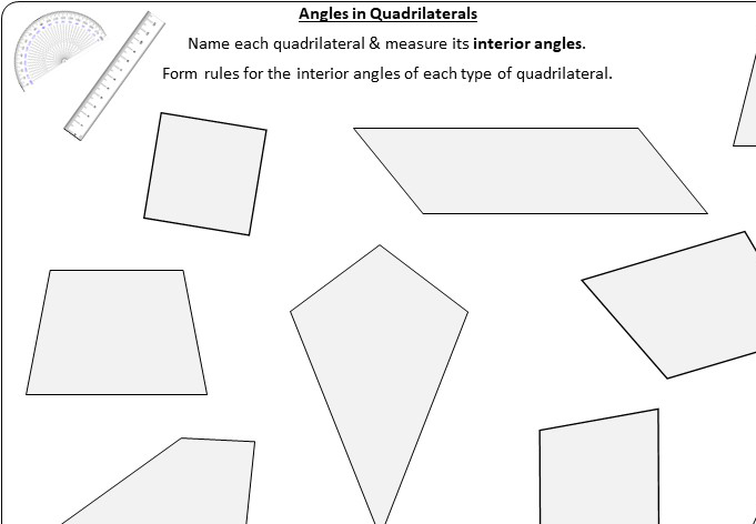 Angles in Special Quadrilaterals - Go Teach Maths: 1000s ...