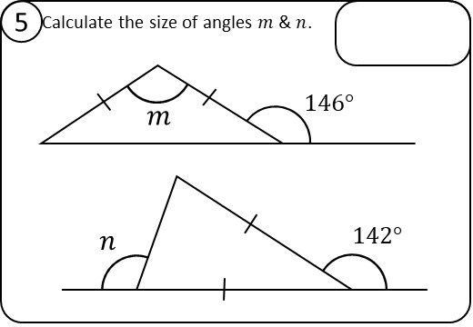 Angles - Triangles - Relay Race