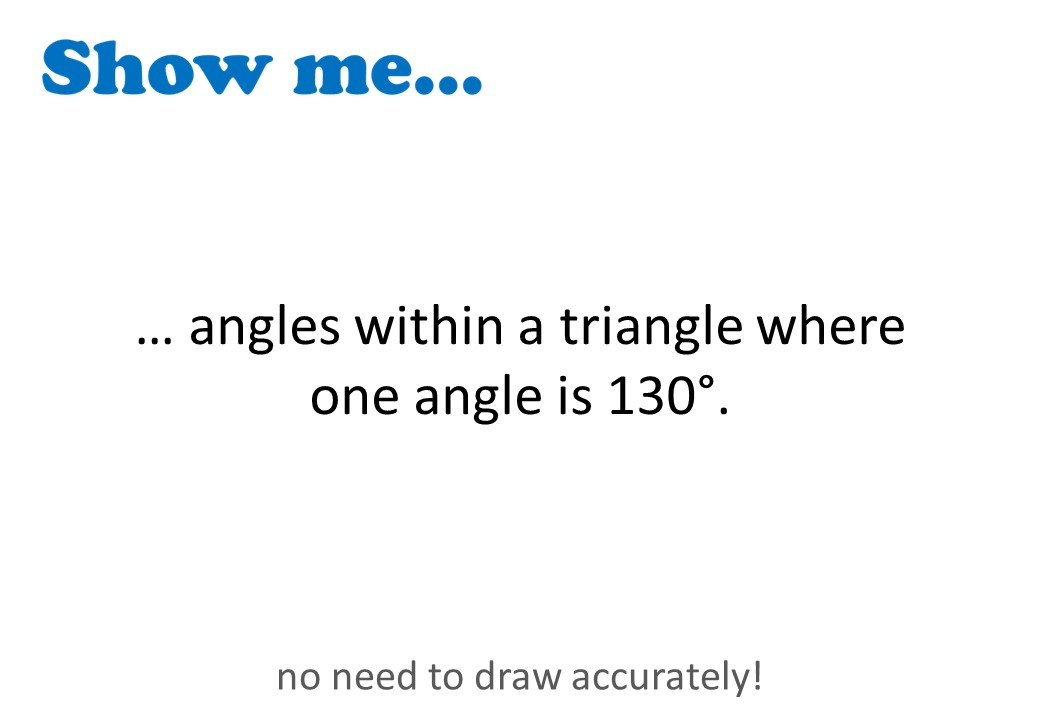 Angles - Triangles - Show Me