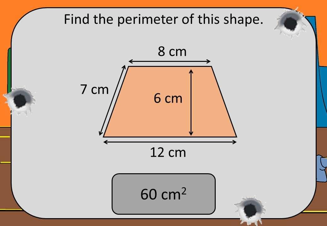 Area & Perimeter - 2D Shapes - Shootout