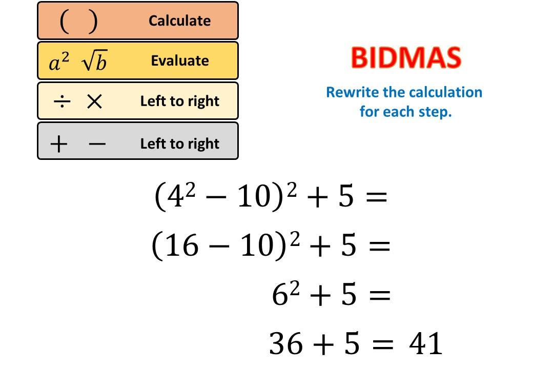 BIDMAS - All - Demonstration