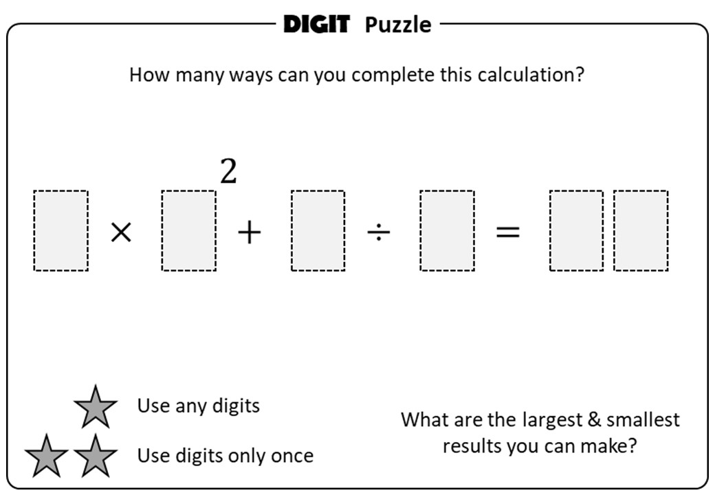 BIDMAS - All - Digit Puzzle