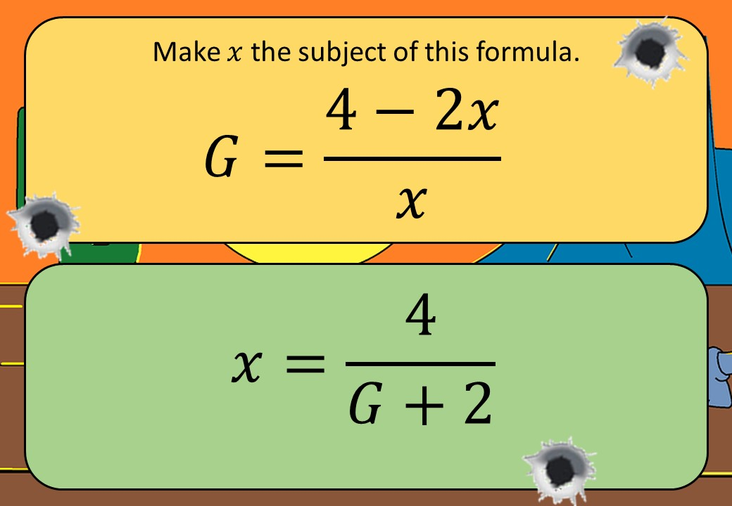 Changing the Subject of a Formula - With Factorisation - Shootout