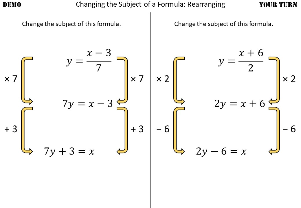 Changing the Subject of a Formula - Without Factorisation - Demonstration