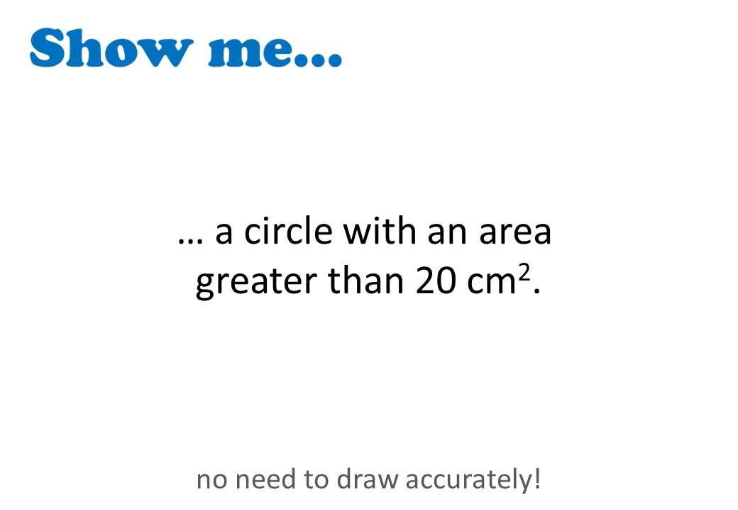 Circle - Area - Show Me