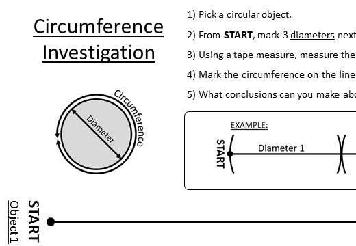 Circle - Circumference & Perimeter - Worksheet A