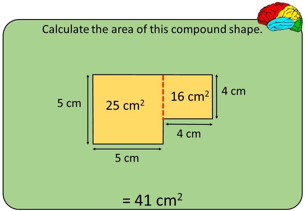 Compound Shapes - Area - Bingo M