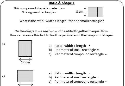 Compound Shapes - Perimeter - Worksheet A