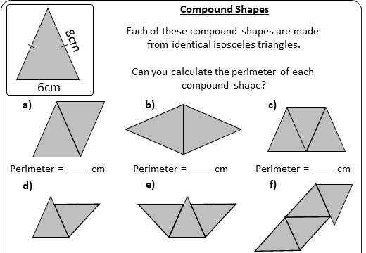 Compound Shapes - Perimeter - Worksheet A