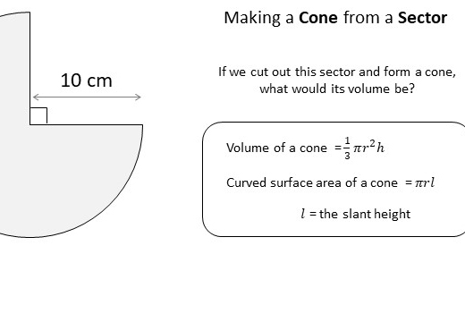 Cone - Volume & Surface Area - Worksheet A
