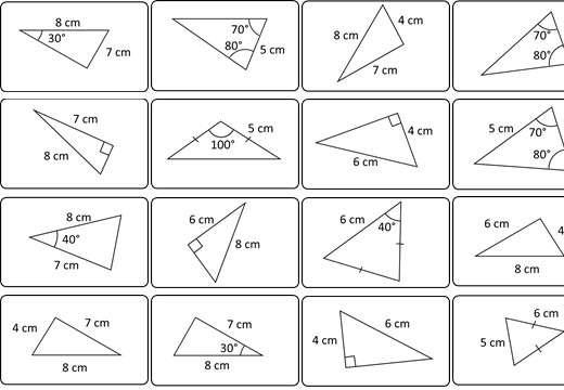 Congruent Triangles - Card Match