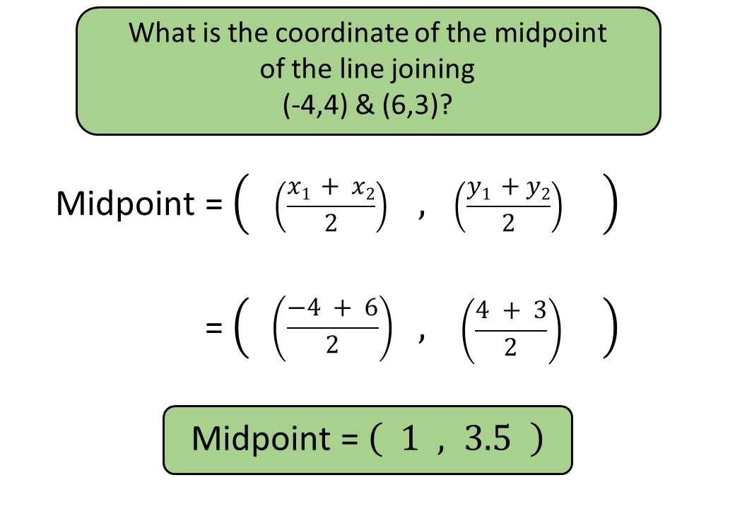 Coordinates - Midpoint - Bingo M