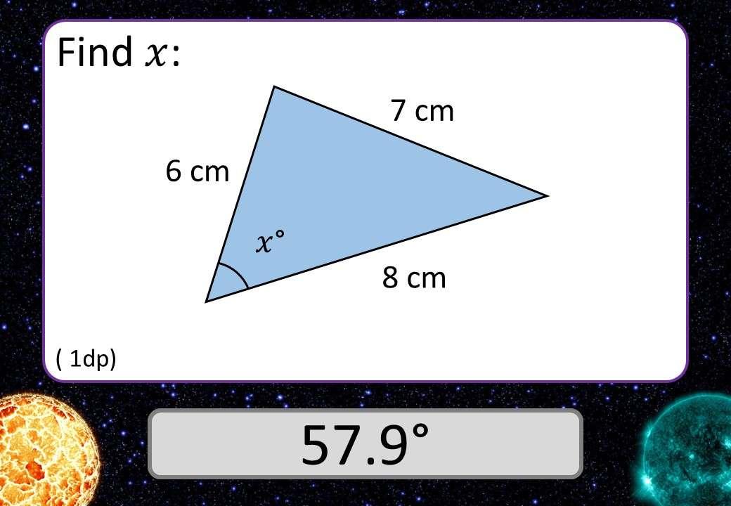 Cosine Rule - Angles - 3 Stars