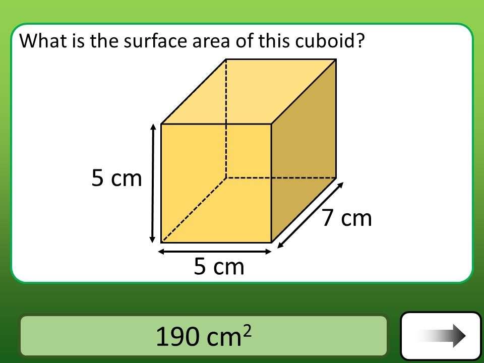 Cuboid - Surface Area - Car Race