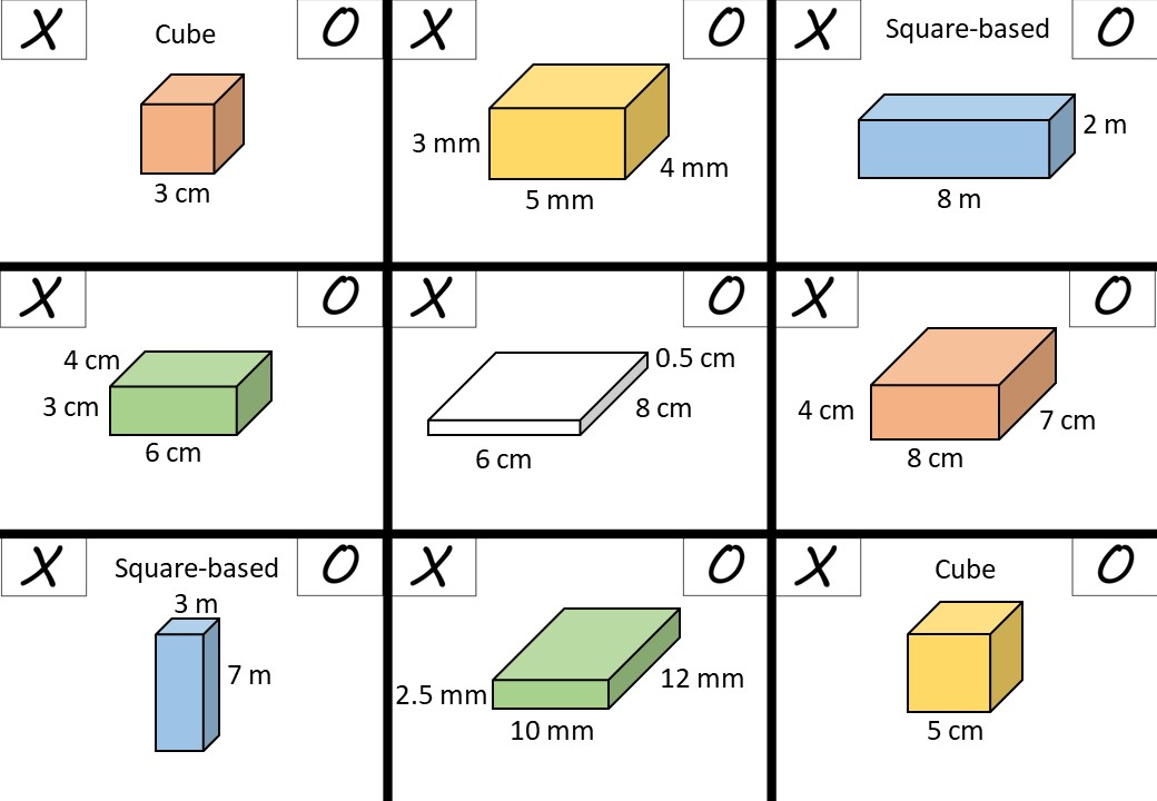 Cuboid - Surface Area - Noughts & Crosses