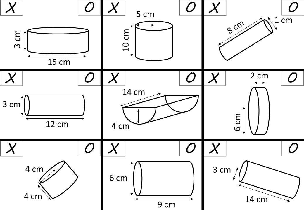Cylinder - Volume - Noughts & Crosses