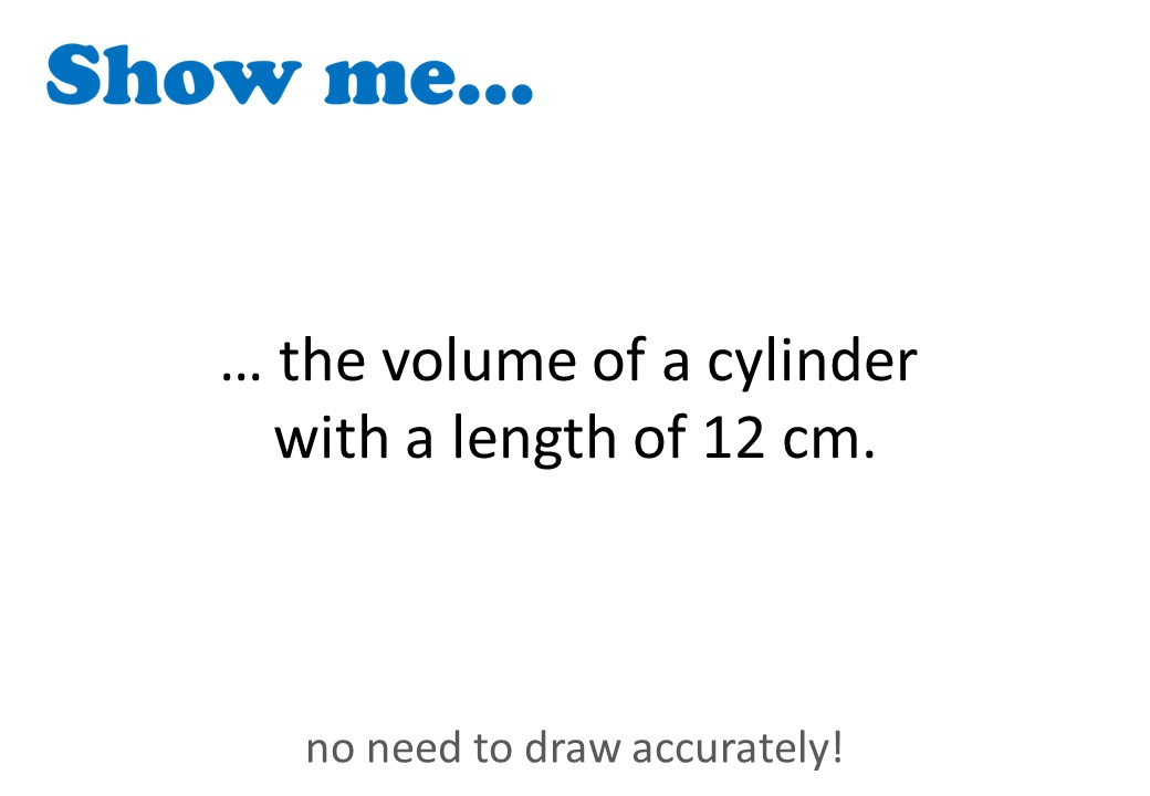 Cylinder - Volume - Show Me