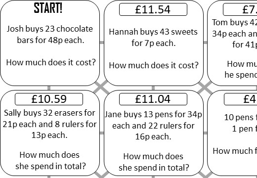 Decimals - Real Life - Calculator - Answer Maze