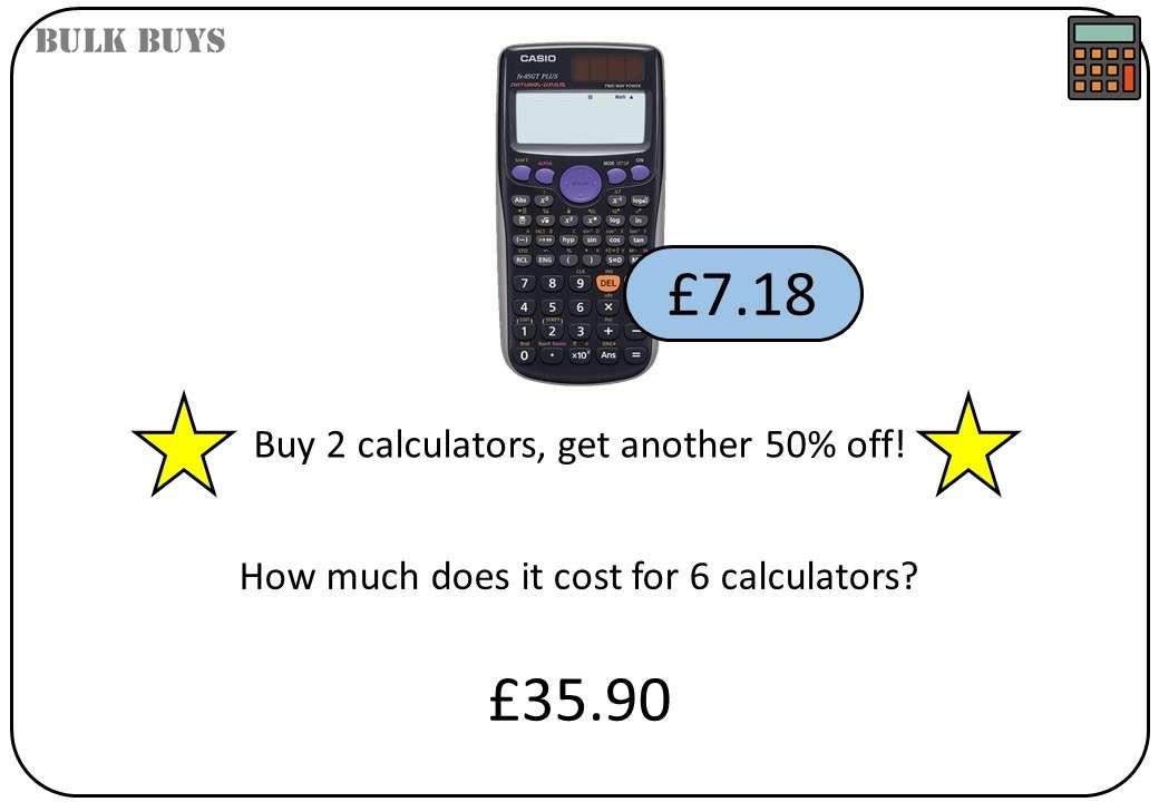 Decimals - Real Life - Calculator - Bingo OA
