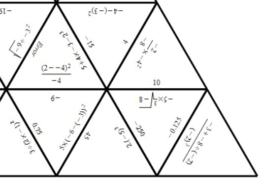 Directed Numbers - Complex Calculations - Tarsia