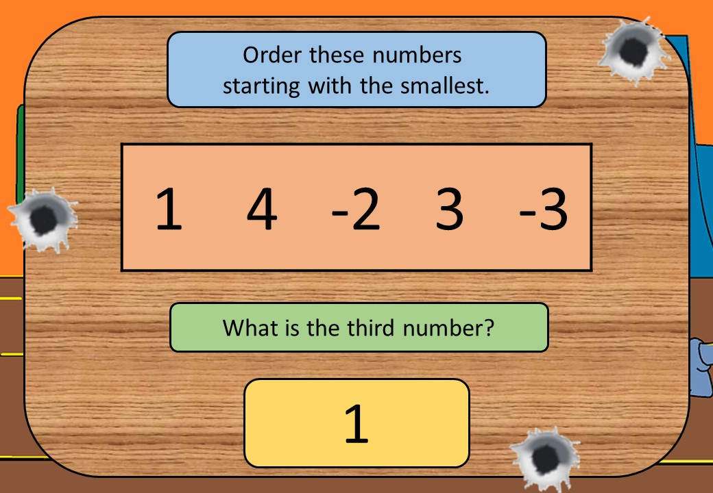 Directed Numbers - Ordering - Shootout