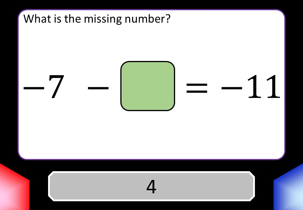 Directed Numbers - Subtracting - Blockbusters