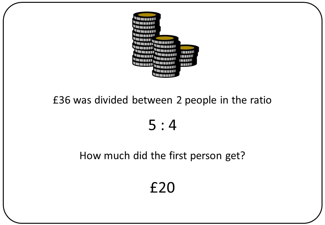 Dividing into a Ratio - Bingo A