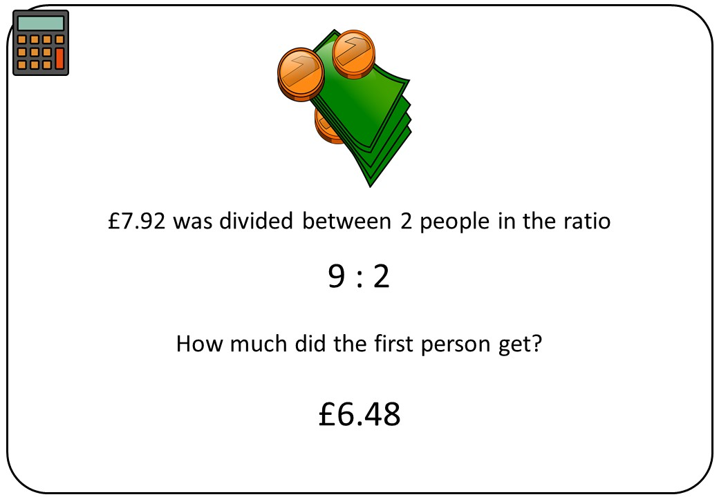Dividing into a Ratio - Bingo B