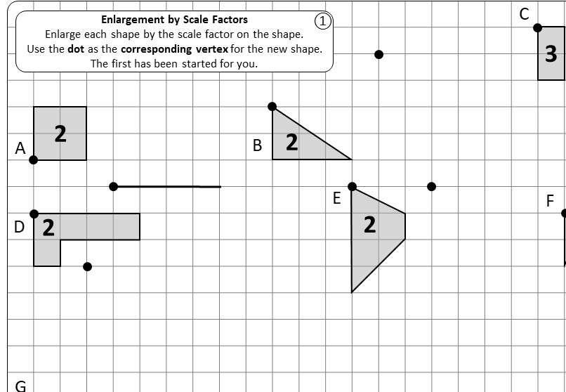 Enlargement - Positive - Worksheet B