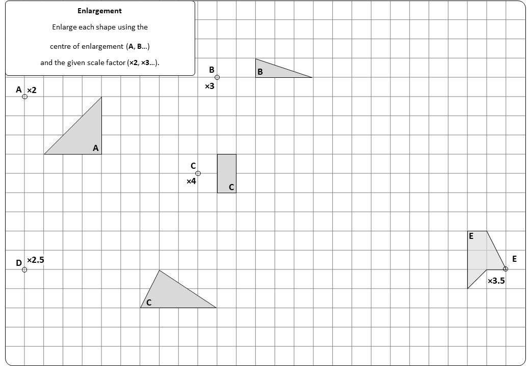 Enlargement - Positive - Worksheet C