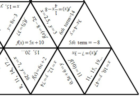 Equations, Functions & Sequences - Tarsia