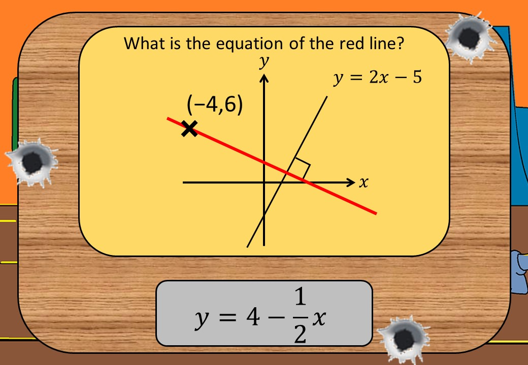 Equations - Parallel & Perpendicular Lines - Shootout