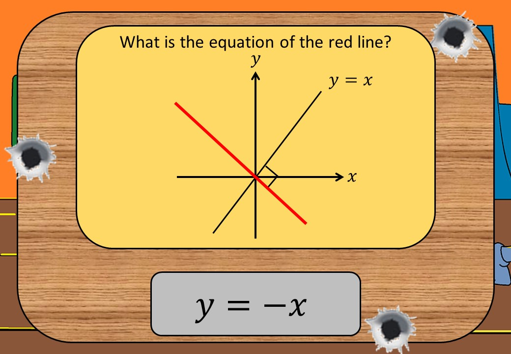 Equations - Perpendicular Lines - Shootout