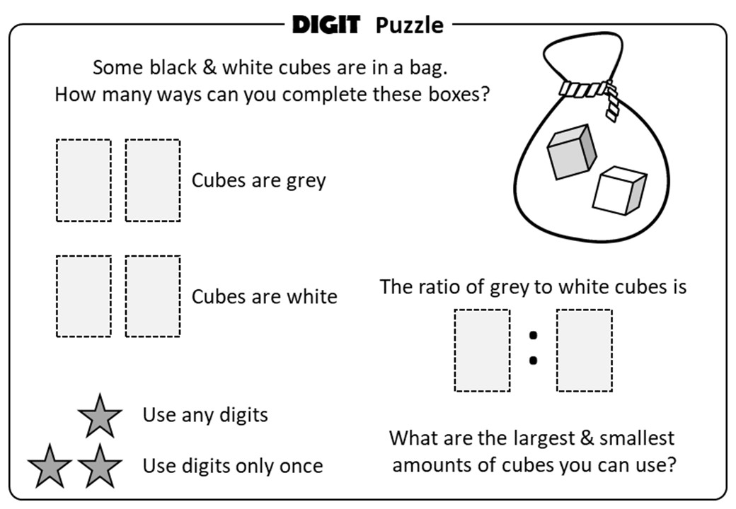 Expressing as a Ratio - Digit Puzzle