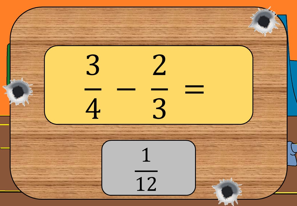 Fractions - Adding & Subtracting - Shootout